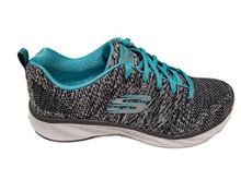 Skecher Women's Pisa â Petal Joy Sneakers (Charcoal/Turquoise)