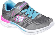 Skechers Dream N' Dash Whimsy Girl Charcoal/Turquoise Women's