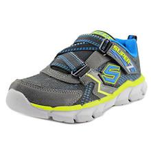 Skechers Boys' Assemblers Protons Sneaker,Black/Blue/Lime