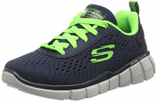 Skechers Boys' Equalizer 2.0 Settle the Score Sneaker,Navy/Lime