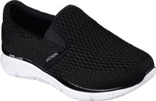 Skechers Boys' Equalizer Double Play Slip On Shoe,Charcoal/Black