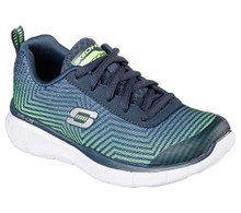 Skechers Boys' Equalizer Game Day Sneaker,Navy/Lime