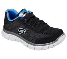 Skechers Boys Flex Advantage Master Quest Sneaker,Black/Blue
