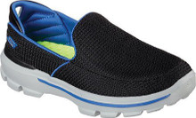 Skechers Boys' GOwalk 3 Unruly Slip On,Black/Royal