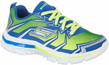 Skechers Boy's, Nitrate Thermoblast Lace up Sneakers Lime Blue