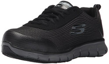 Skechers For Work Women's Synergy Wingor Work Shoe, Black