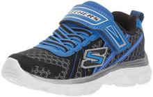 Skechers Kids Boys' Advance-Hyper Tread Sneaker,Black