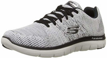 Skechers Mens Flex Advantage 2.0 Missing Link Sneaker,White/Black