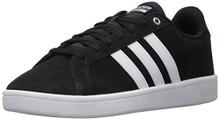 adidas Men's CF Advantage Sneakers, Black/White/Matte Silver