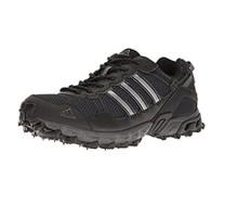 Adidas Men's Rockadia Trail M Running Shoe, Black/Black/Dark Grey