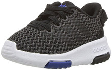 adidas Neo Girls' Racer TR Inf Sneaker,Carbon/Core Black