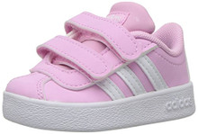 adidas Originals Baby VL Court 2.0 CMF I Sneaker, Frost Pink, FTWR White
