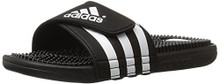 adidas Originals Men's Adissage Sandal, Black/Black/White