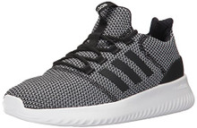 adidas Originals Men's Cloudfoam Ultimate Running Shoe,Black/White