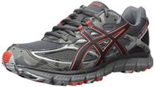 ASICS Men's Gel-Scram 3 Running Shoes, Dark Grey/Black/Red Clay