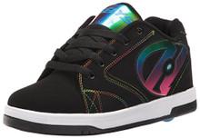 Heelys Boys Propel 2.0 Sneaker, Black Black Red, Black Black/Rainbow Foil
