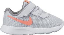 New Nike Baby Girl's Tanjun Sneaker Platinum/Lava Glow