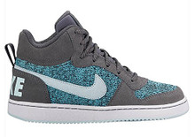 NIKE Girl's Court Borough Mid SE (GS) Basketball Shoes Dark Grey