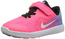 NIKE Kids' Revolution 3 (TDV) Running Shoe, Chlorine Blue/White
