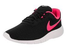 NIKE Kids Tanjun (GS) Black/Hyper Pink White Running Shoe