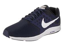 NIKE Men's Downshifter 7 Running Shoe (4E) Midnight Navy/White