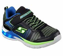 Skechers Kids Boys' Erupters II-Lava Waves Sneaker,Black/Blue/Lime