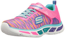 Skechers Kids Girls' Litebeams-Colorburst Sneaker, Neon Pink/Multi