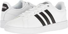 adidas Performance Men's Cloudfoam Advantage Sneakers, White/Black/White