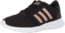 Adidas Women's CF QT Racer W Sneaker, Core Black, Copper Met, FTWR White