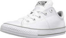 Converse Boys Chuck Taylor Madison Ox Fashion Sneaker Shoe, White/White/White