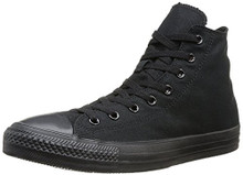 Converse Chuck Taylor All Star Canvas High Top Sneaker, Black Monochrome