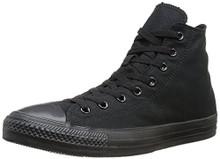 Converse Chuck Taylor All Star Canvas High Top Sneaker, Black Monochrome