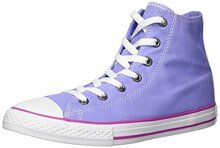 Converse Kids' Chuck Taylor All Star Seasonal Canvas High Top Sneaker, Twilight Pulse/Hyper Magenta