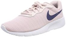 Nike 818384-600: Girl's Tanjun Barely Rose/Navy/White Sneaker
