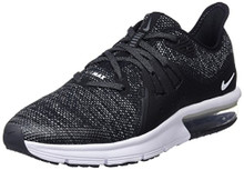 NIKE Boy's Air Max Sequent 3 Running Shoe Black/White/Dark Grey Size