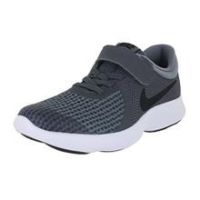 NIKE Boy's Revolution 4 (PSV) Running Shoes  Dark Grey/Black-Cool Grey-White