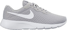 NIKE Boy's Tanjun Running Shoes  Wolf Grey/White-White)
