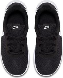 NIKE Boy's Tanjun Running Sneaker Black/White-White