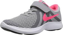 NIKE Girls' Revolution 4 (PSV) Running Shoe, Wolf Grey/Racer Pink-Cool Grey-White