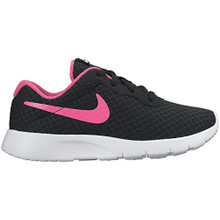 NIKE Girl's Tanjun (PS) Running Shoes  Black/Hyper Pink/White