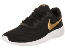NIKE Kids Tanjun (GS) Black/Metallic Gold/White Running Shoe