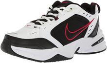 NIKE Men's Air Monarch IV (4E) Athletic Shoe, white/black