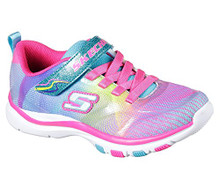 Skechers 81488WL Girl's Trainer Lite - Dash N Dazzle Shoes, Multi