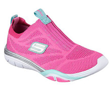 Skechers 82193L Girl's Stella - Sporty Sparkles Sneakers, Hot Pink/Turquoise