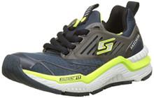 Skechers 97640L Boy's Hyperjolt Sneakers, Slate/Lime/Black