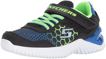 Skechers Boys' Ultrapulse-Rapid Shift Sneaker,Black/Blue/Lime