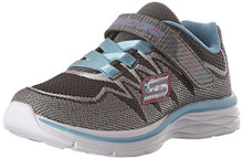 Skechers Dream N Dash Whimsy Girl Sneakers Charcoal/Turquoise