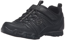 Skechers Girl Biker II School Star Uniform Sneaker, Black/Black, Little Kid (4-8 Years)