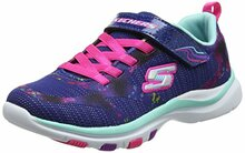 Skechers Girls Trainer Lite - Bright Racer, Walking, Navy/Multi