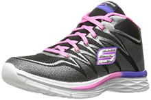 Skechers Kids Girls' Dream N'Dash-81463L Sneaker,Black/Lavender/Pink,